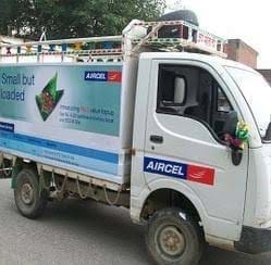 Advertisement on Truck for Aircel