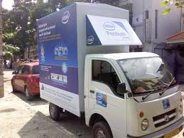Advertisement on Truck for Intel